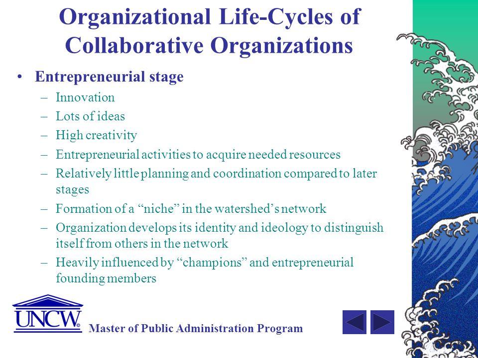 Organizational Life-Cycles of Collaborative Organizations