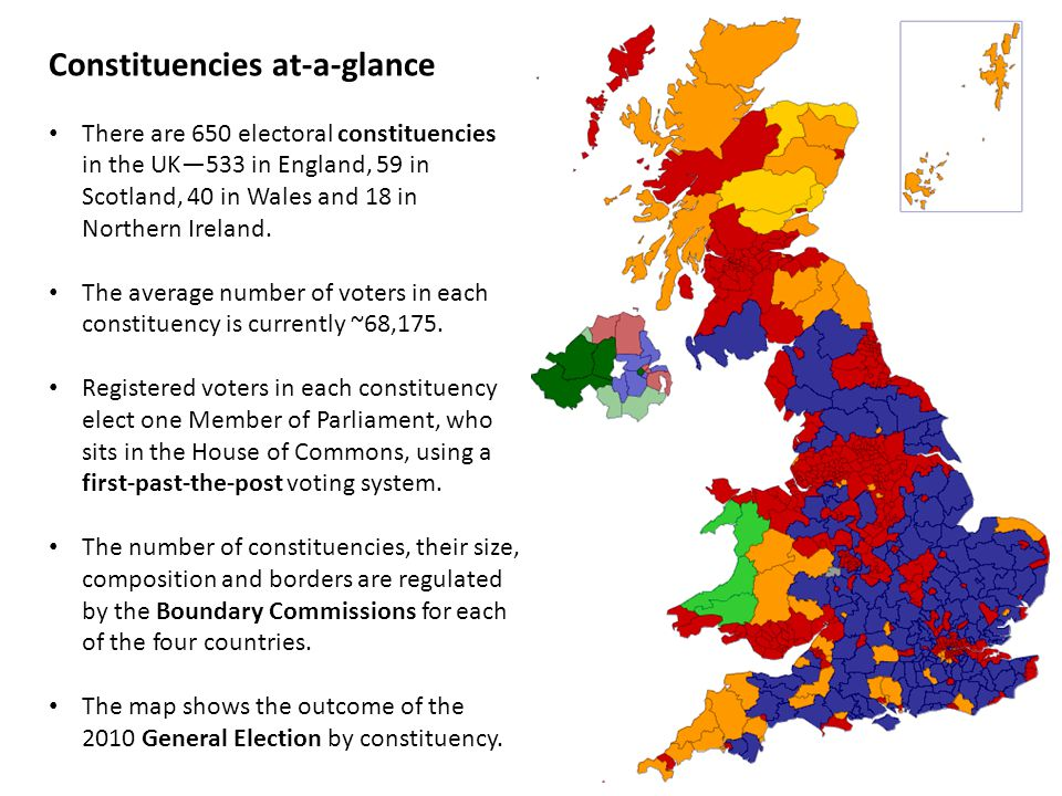 Constituencies at-a-glance