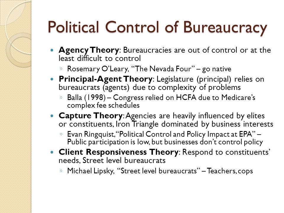Political Control of Bureaucracy
