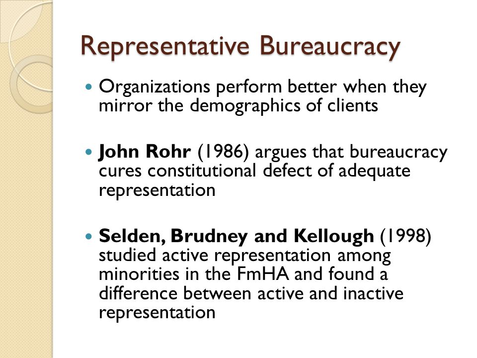representative bureaucracy From hierarchical authorities to the dreaded red tape, bureaucracies have six characteristics in common, as revealed by max webster.