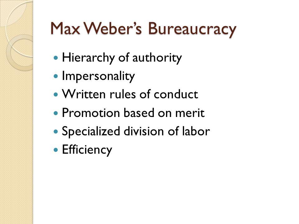 Max Weber's Bureaucracy