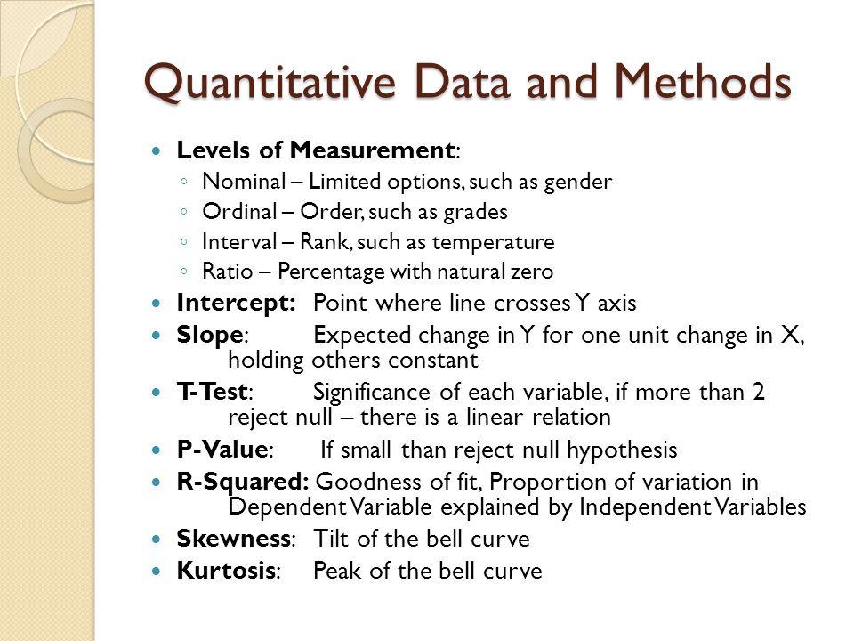Quantitative Data and Methods
