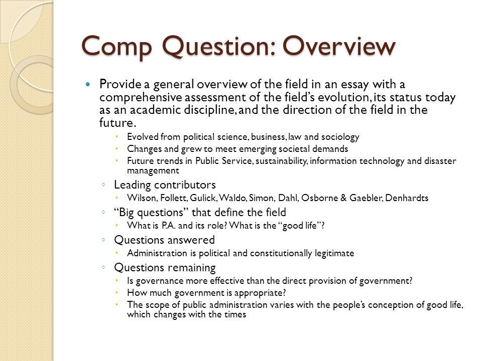 Comp Question: Overview