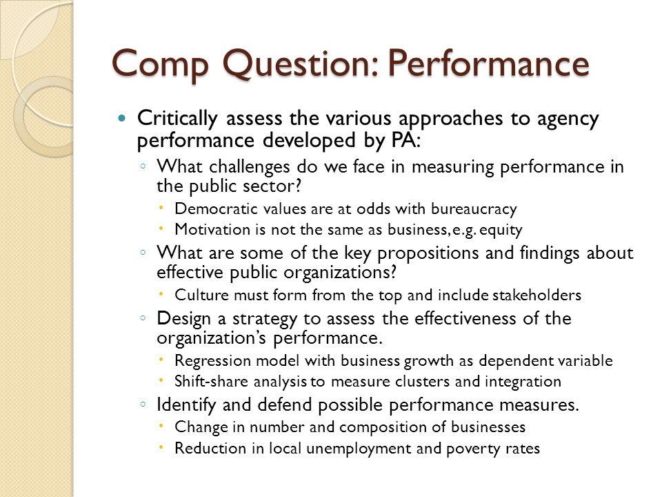 Comp Question: Performance
