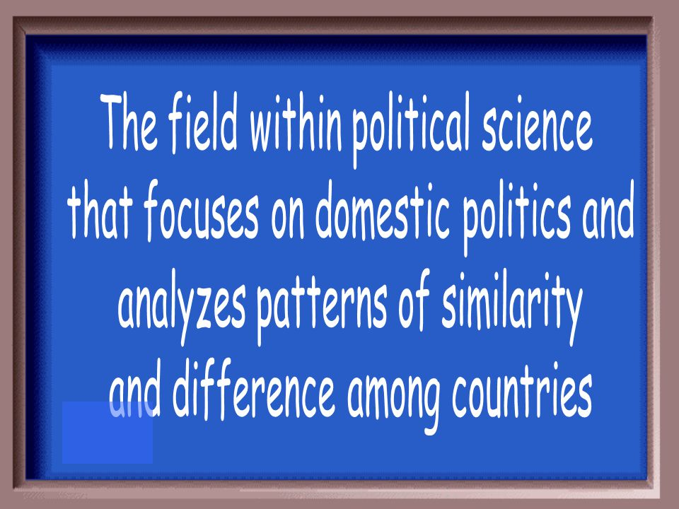 The field within political science