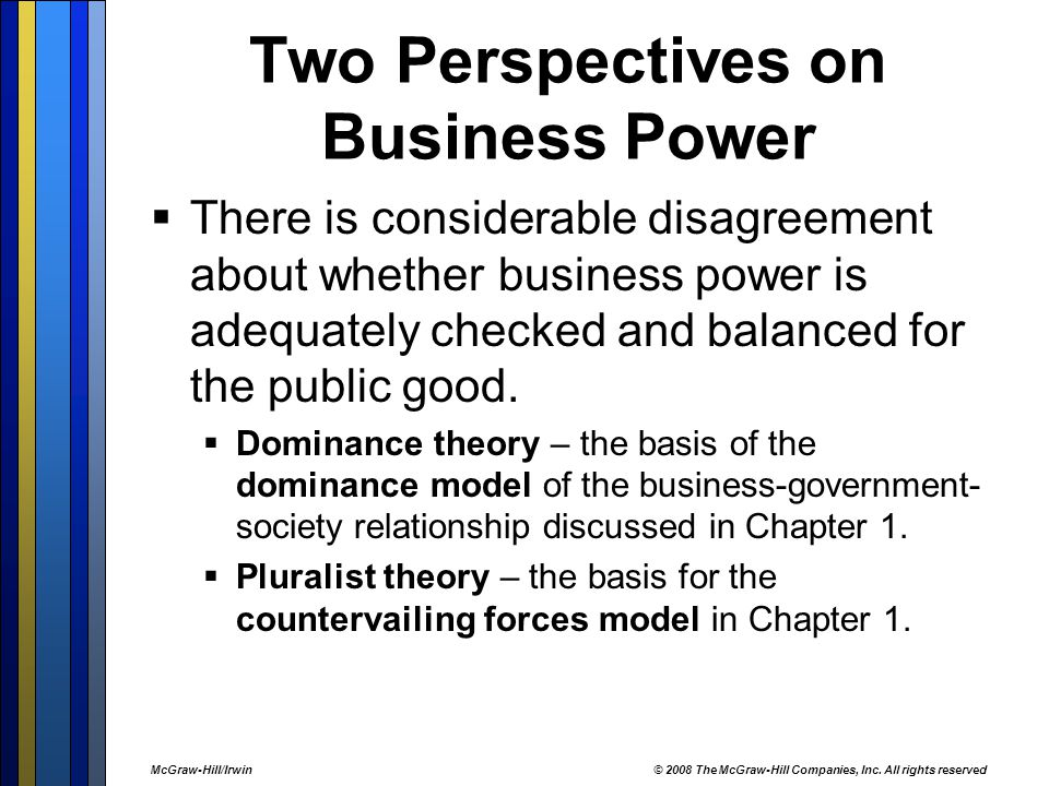 Two Perspectives on Business Power