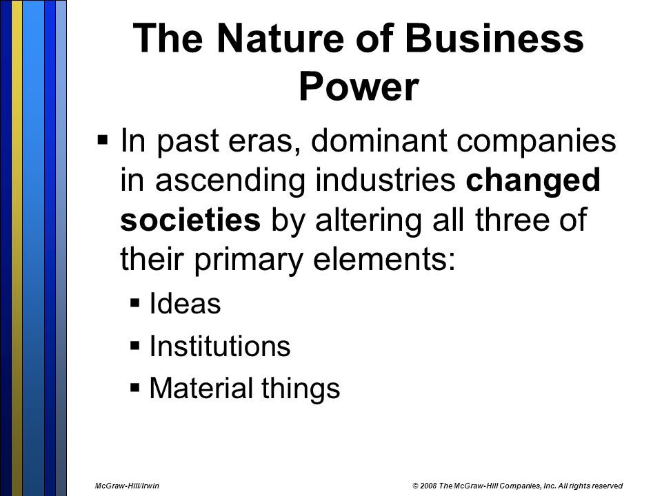 The Nature of Business Power