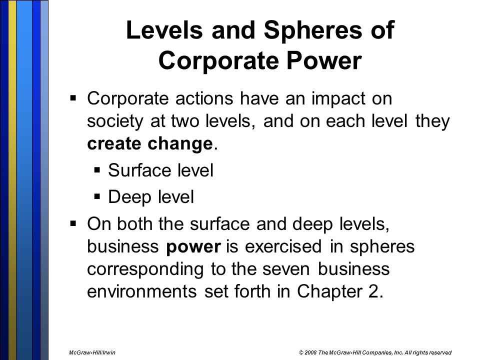 levels and spheres of business power Levels of power in today's world, power is increasingly seen as multi-layered and multi-polar - that is, it is found across various levels and amongst state and non-state actors while once power might have been understood in relationship to a particular place or territory, not is able to move across local , national and global levels.