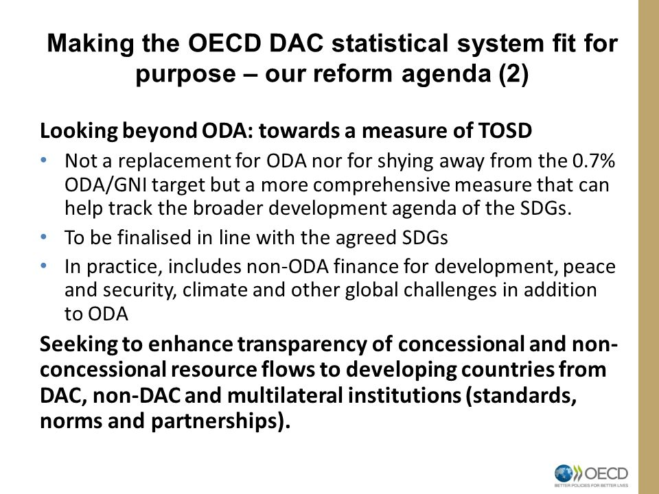 Making the OECD DAC statistical system fit for purpose – our reform agenda (2)