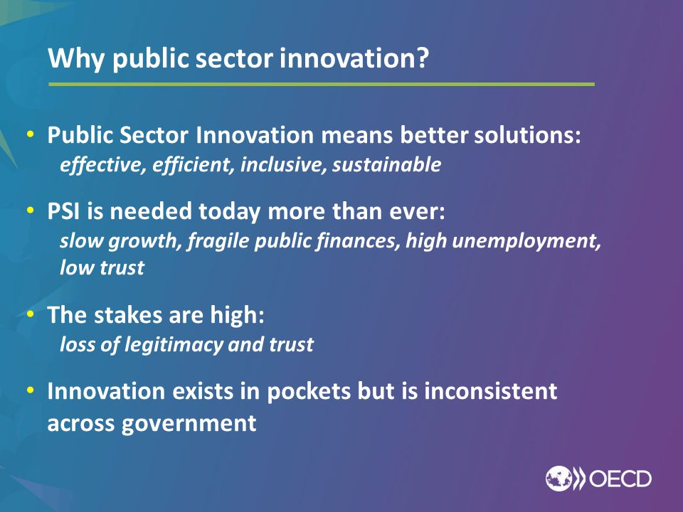 Why public sector innovation