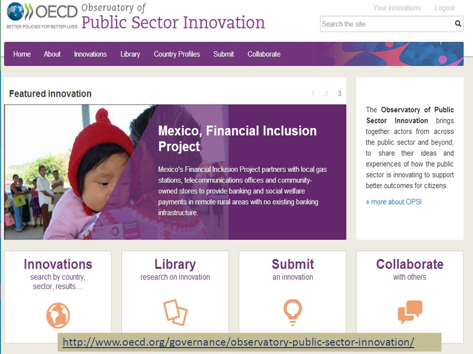 OECD Observatory of Public Sector Innovation
