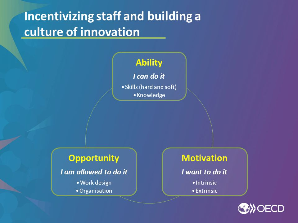 Incentivizing staff and building a culture of innovation