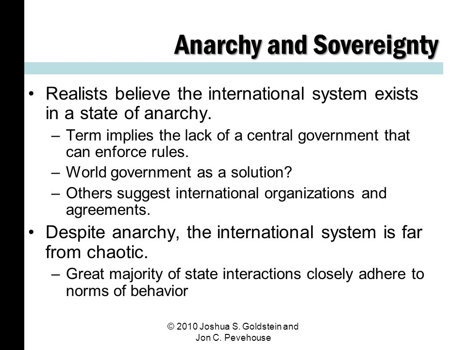 Anarchy and Sovereignty