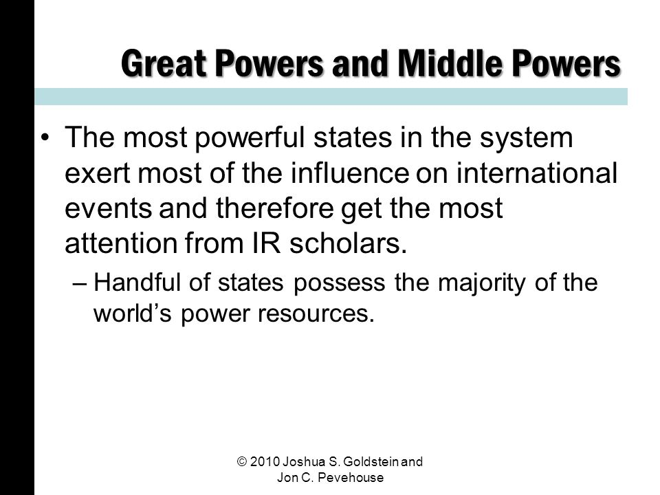 Great Powers and Middle Powers