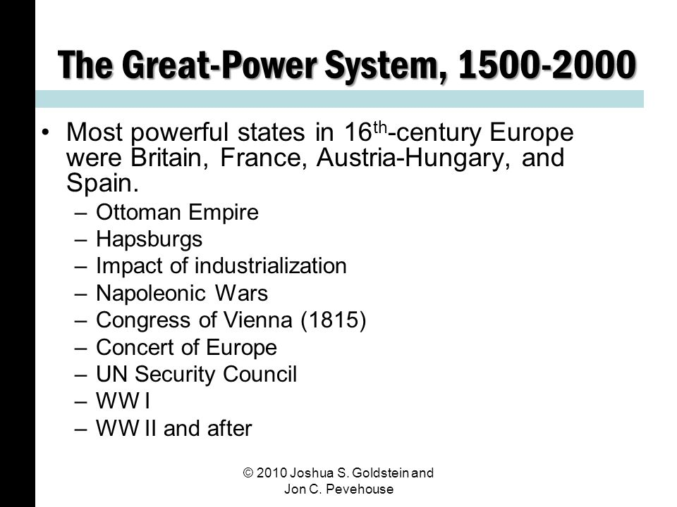 The Great-Power System, 1500-2000