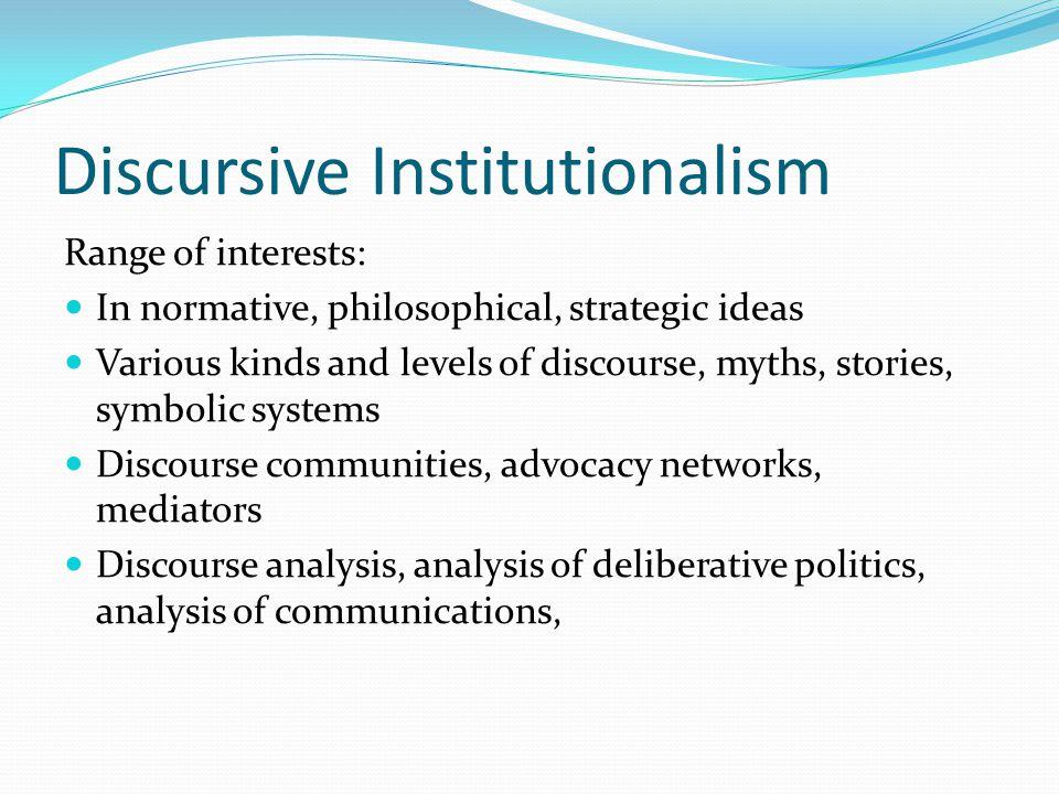 Discursive Institutionalism