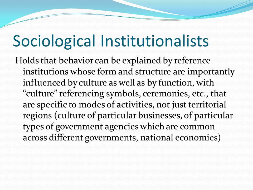 Sociological Institutionalists