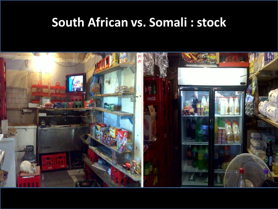 South African vs. Somali : stock