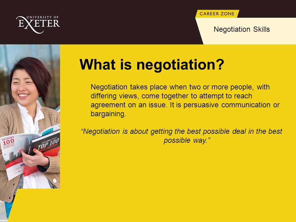What is negotiation Negotiation Skills