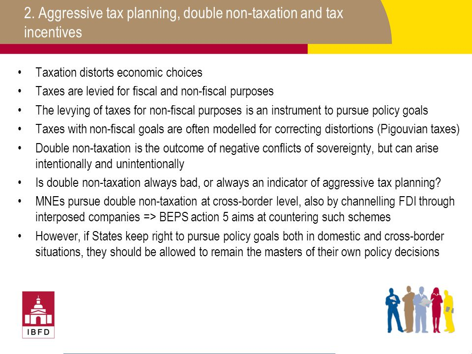 2. Aggressive tax planning, double non-taxation and tax incentives