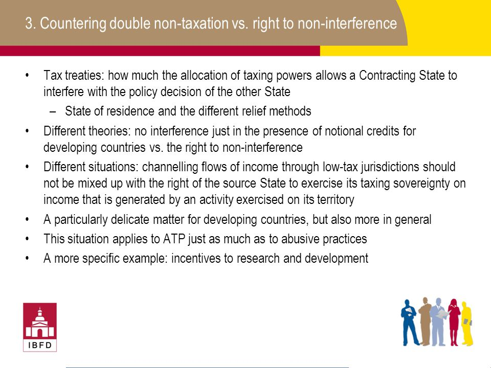 3. Countering double non-taxation vs. right to non-interference