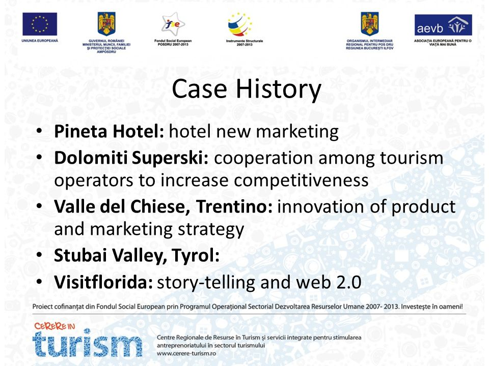 Case History Pineta Hotel: hotel new marketing