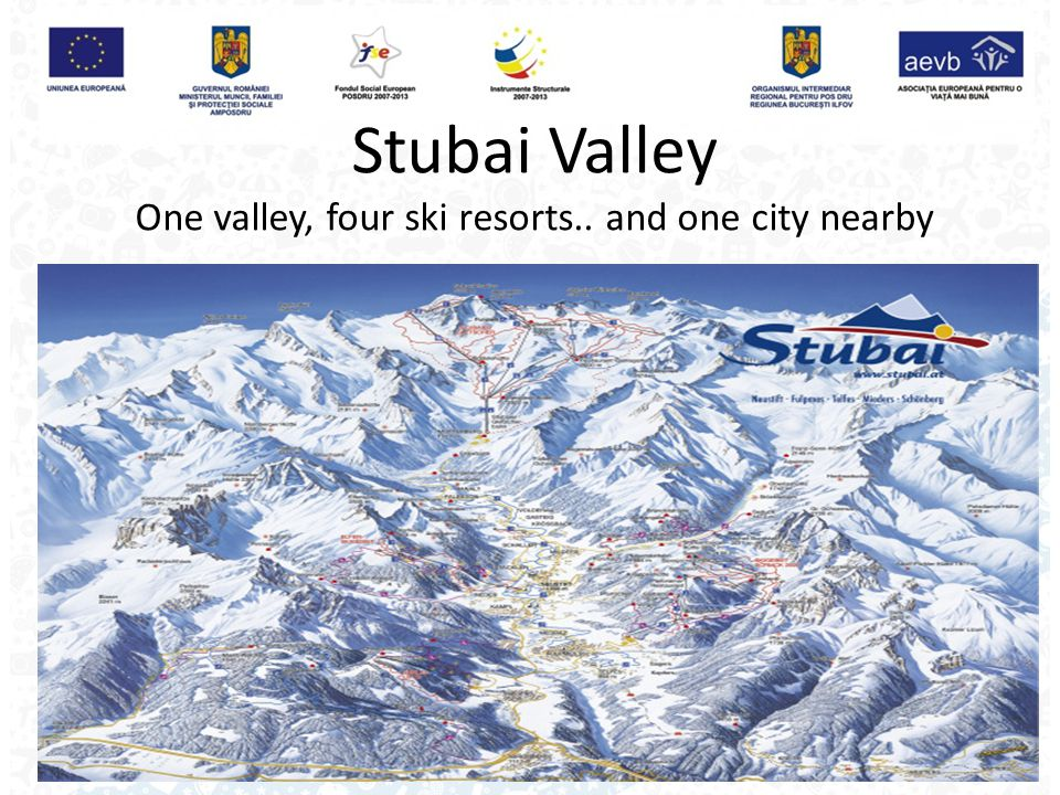 Stubai Valley One valley, four ski resorts.. and one city nearby