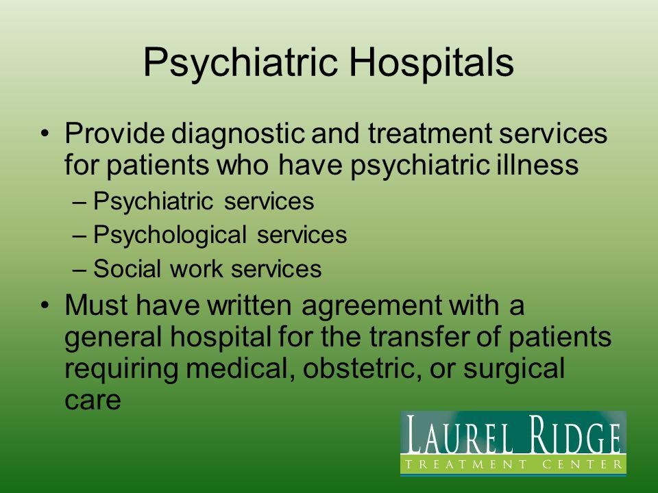 Psychiatric Hospitals