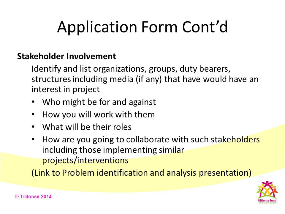 Application Form Cont'd