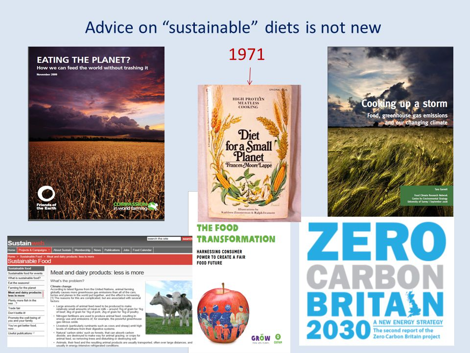 Advice on sustainable diets is not new