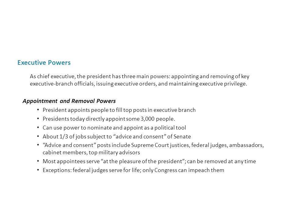 Executive Powers