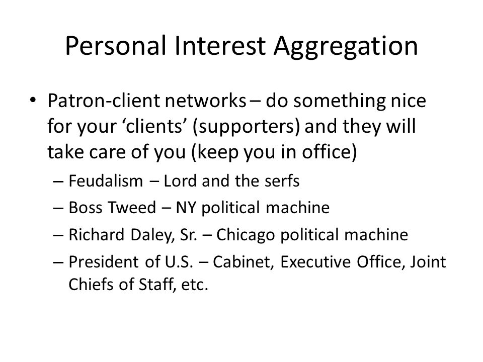 Personal Interest Aggregation