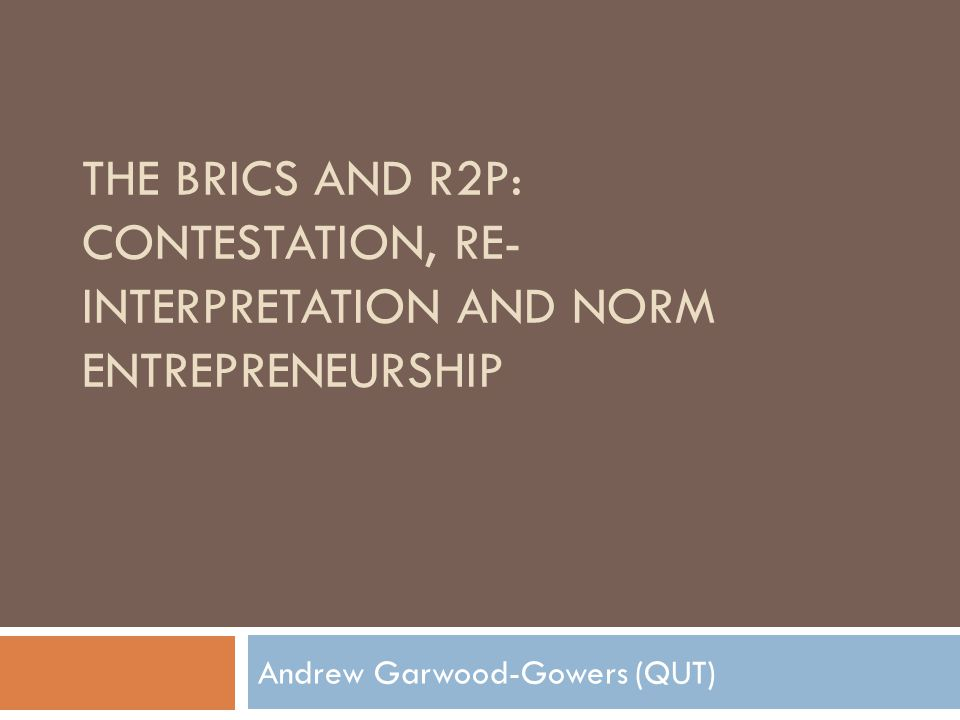 Andrew Garwood-Gowers (QUT)