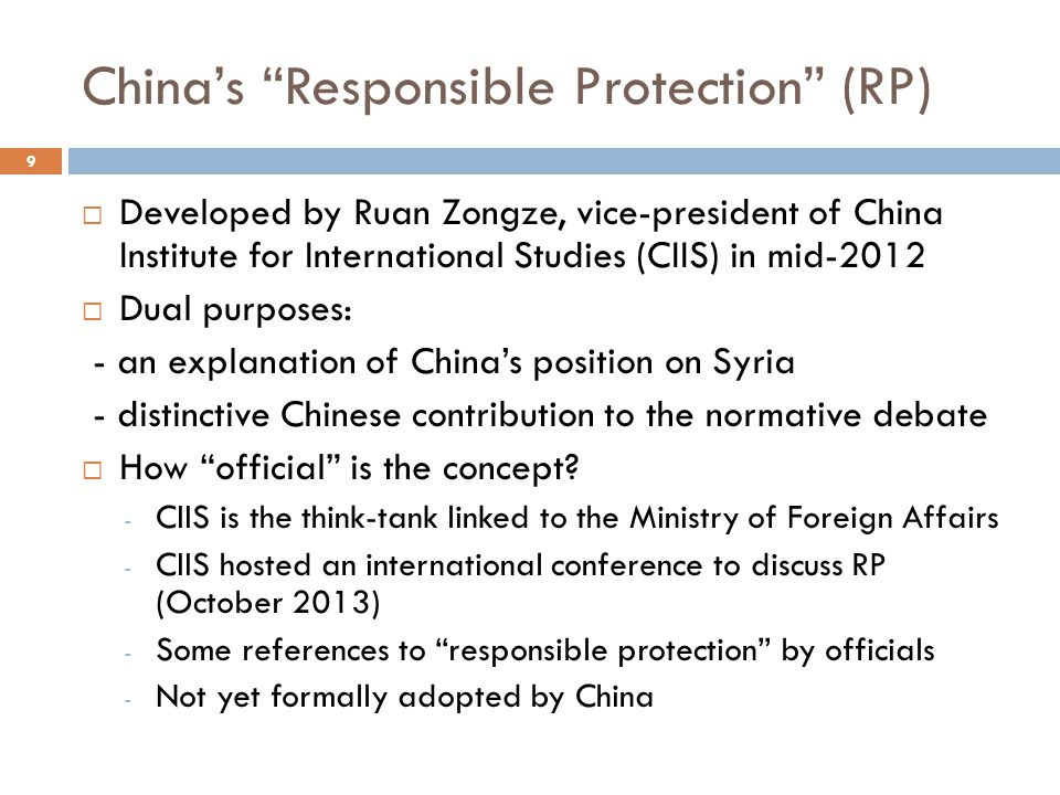 China's Responsible Protection (RP)