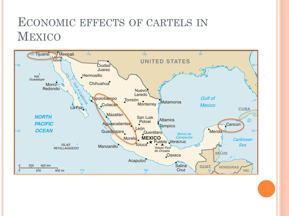 Economic effects of cartels in Mexico