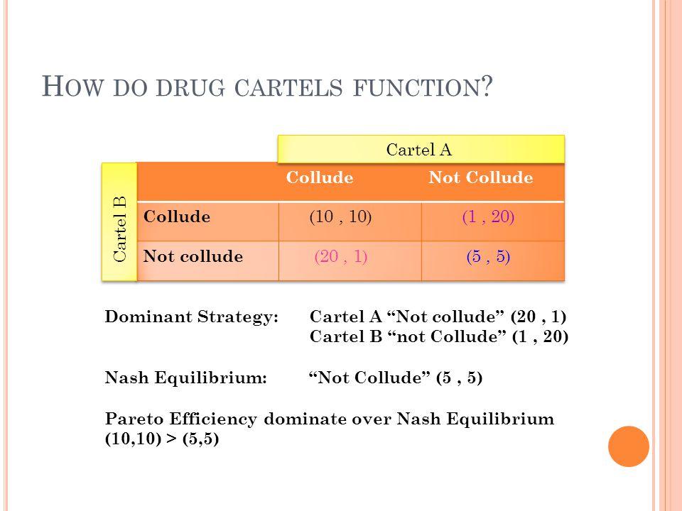 How do drug cartels function