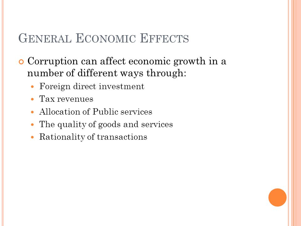 General Economic Effects