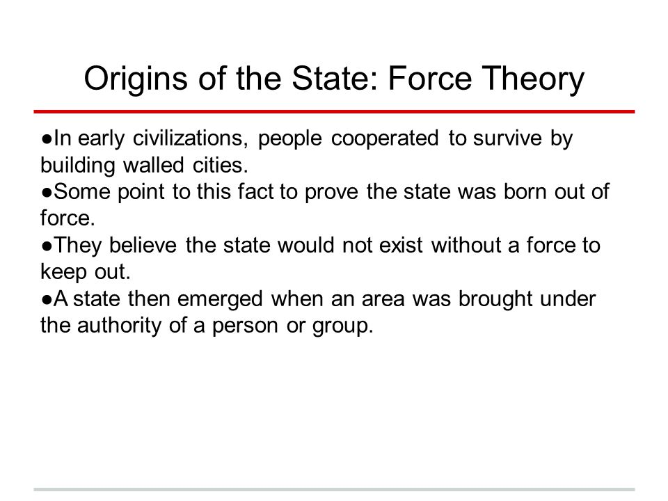 Origins of the State: Force Theory