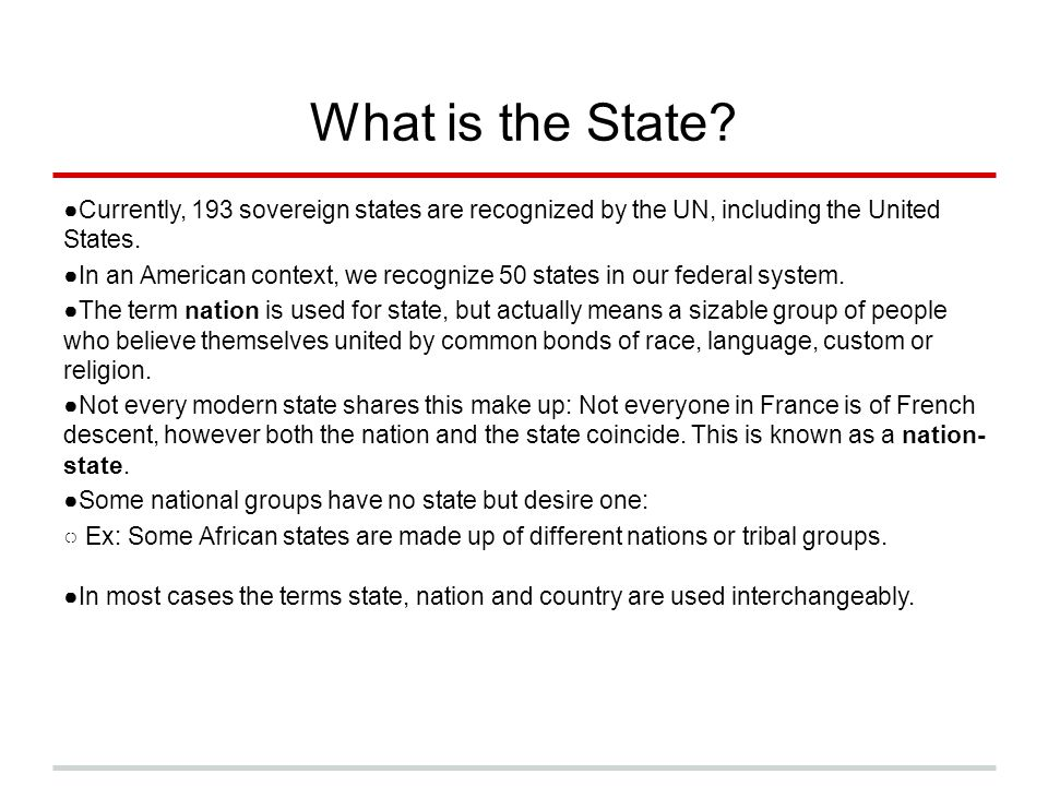 What is the State Currently, 193 sovereign states are recognized by the UN, including the United States.