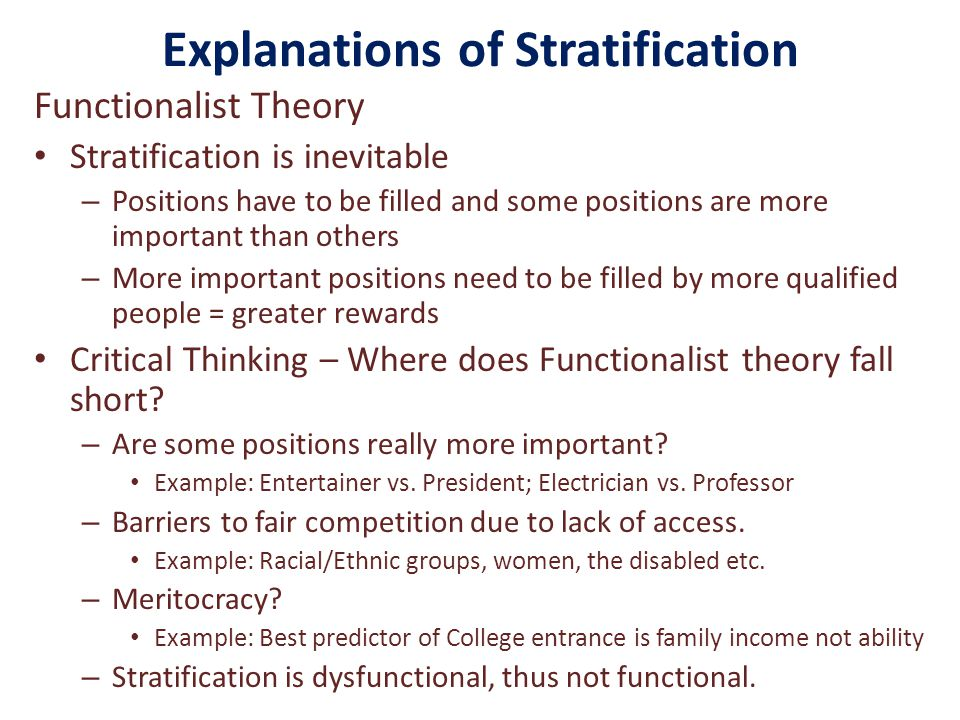 The theory of stratification