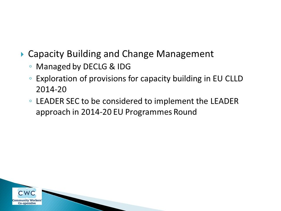 Capacity Building and Change Management