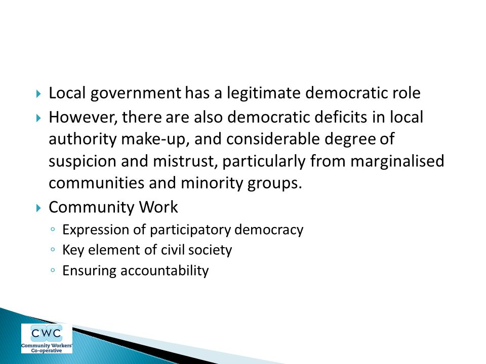 Local government has a legitimate democratic role