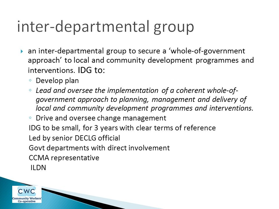 inter-departmental group