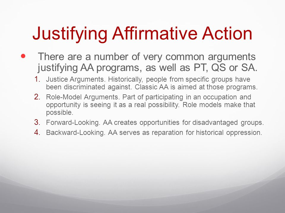Justifying Affirmative Action