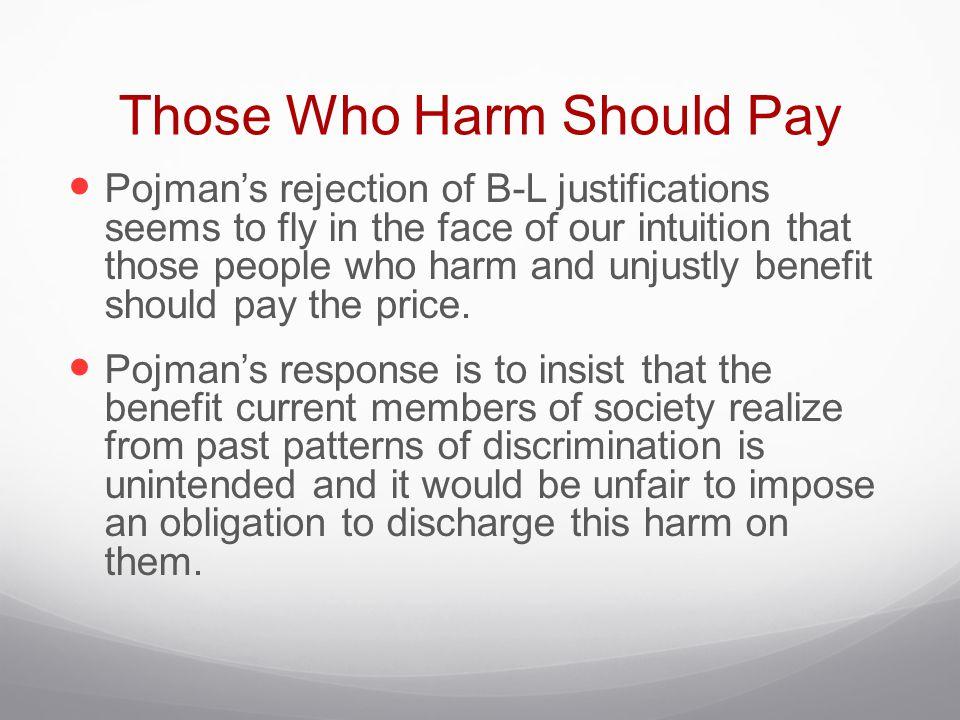 Those Who Harm Should Pay
