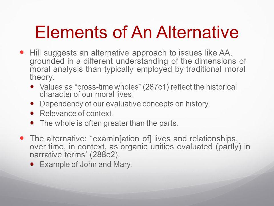 Elements of An Alternative