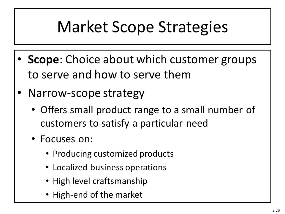 Market Scope Strategies