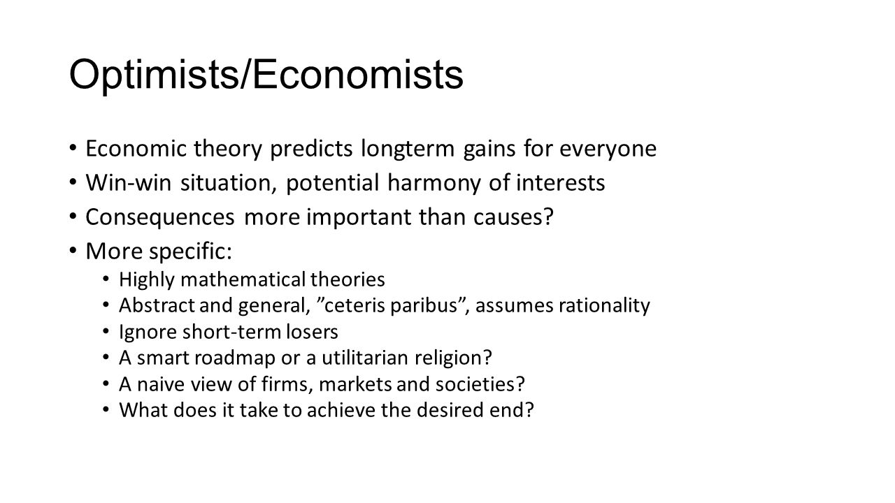 Optimists/Economists