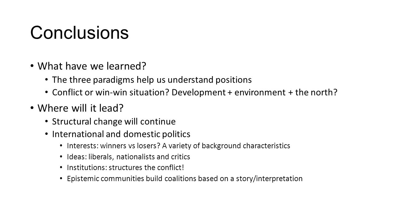 Conclusions What have we learned Where will it lead