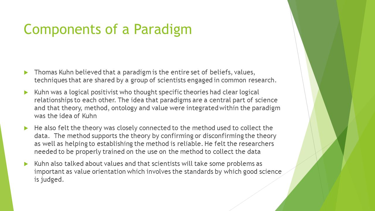 Components of a Paradigm
